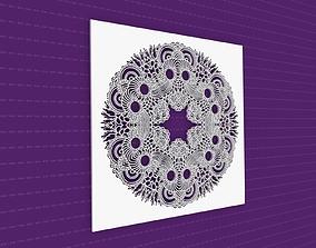 3D model Mandala pattern