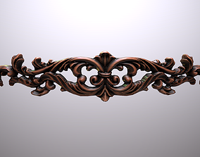 3D model Luxurious carved wood ornament