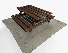 3D asset Picnic Table