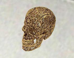 skull with ornaments 3D print model