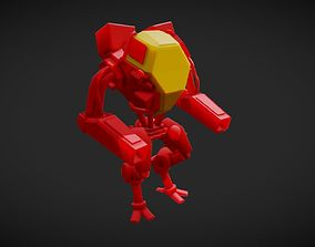 3D asset Red Mech