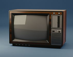 3D model Old television monitor