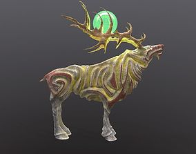 3D model rigged Magic Stone Deer