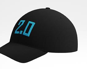 3D asset Black Cap