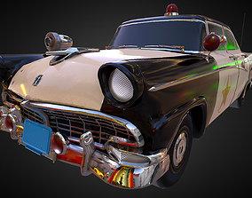 3D model Vintage Police Car - PBR