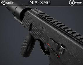 MP9 Submachine Gun 3D model VR / AR ready