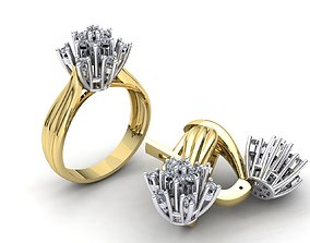 MGold039 Diamond Set 3dmodel 3D print ready