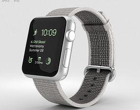 3D Apple Watch Series 2 38mm Silver Aluminum Case Pearl 1