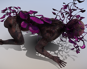 Supermutant Child Zombie with Plant Parasite 3D