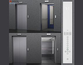 Elevator Kone MONOSPACE 500 3D model animated