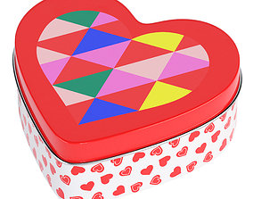 3D model heart Heart Shaped Box