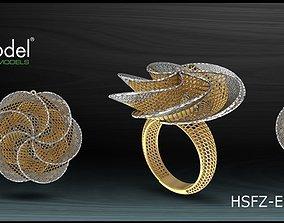 3D printable model disjunct Electro-Fusion Fashion Ring