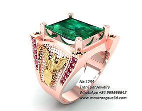 1299 luxury diamond ring for men 3D print model