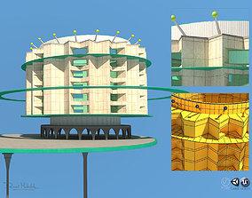 3D Futuristic Architecture Skyscraper 08