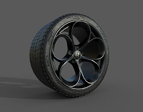 3D asset Alfa Romeo Rim and Tire