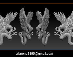 Eagle and snake pendant jewelry 3D printable model
