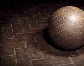 Wooden floor texture set 3D model