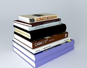 3D model book collection simple
