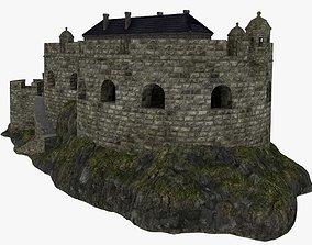 Coastal defense fort 3D model