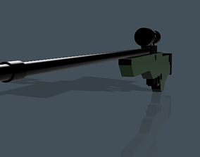 AWP sniper rifle 3D model weapon