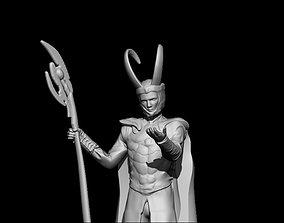 3D printable model loki statuette