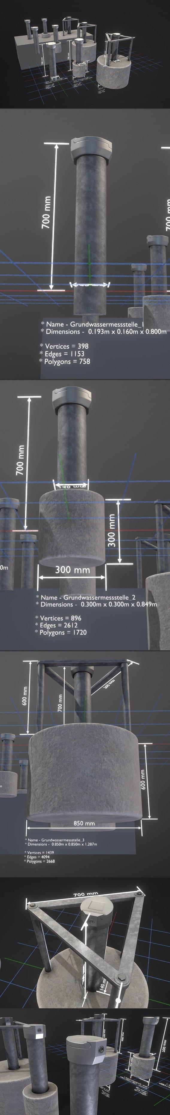 Grundwassermessstellen 1 2 3 (Blender-2.92 Eevee)