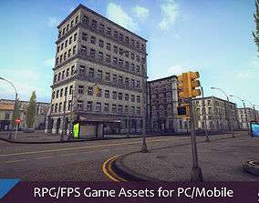 3D model RPG FPS Game Assets for PC Mobile Urban Set v1
