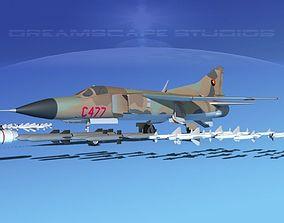 3D model Mig-23 Fighter Angola