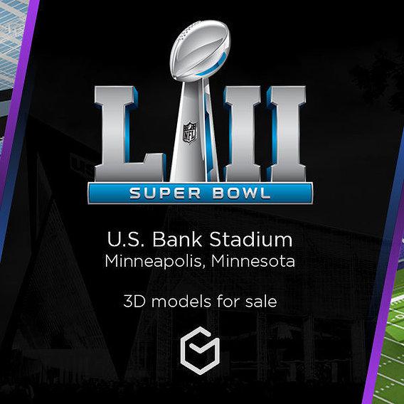 3D Stadium - Superbowl NFL