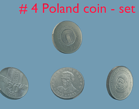 Poland - coin - set - 4 3D model