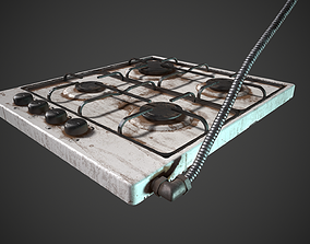 Stove Dirty and Clean 3D model