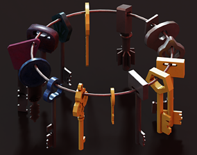 3D model Keys - Low Poly Package
