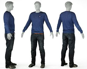 3D model Male Casual Outfit 9 Top Trousers Shoes