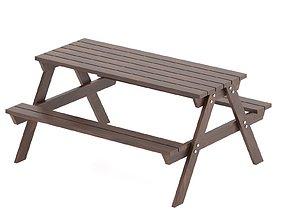 Park Table 01 3D asset