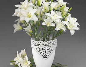 3D model Bouquet of lilies-1