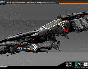 Federation CargoShip B7 3D asset