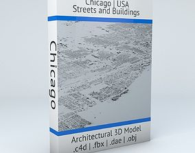 Chicago Streets and Buildings 3D model