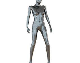 3D Female Black Mannequin 66