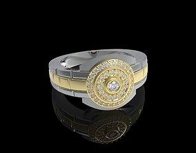 silver luxury Men Ring 3D print model