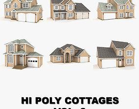 3D model Hi-poly cottages collection vol 3
