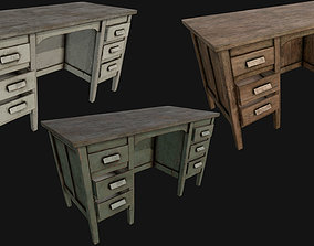 Old Office Table PBR 3D asset