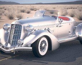 Auburn Speedster 851 desert studio 3D model