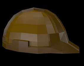 3D model Low poly working helmet