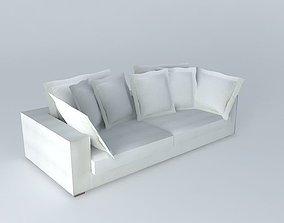 MARCUS sofa ivory houses of the world 3D model