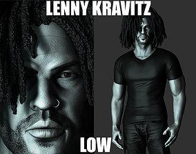 LENNY KRAVITZ LOW 3D PRINT MODEL sing
