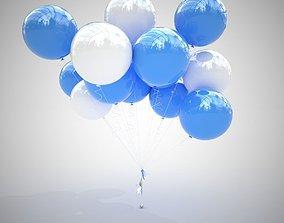 3D Colorful air balloons v2