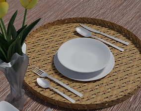 table service dining-table 3D