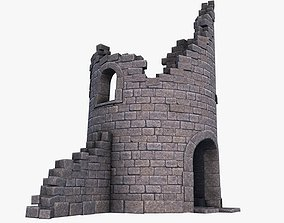 3D asset Ruined Tower