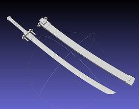 Kill La Kill Satsuki Sword And Sheath Printable Assembly