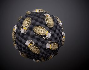 3D model Grenade Explosive Weapon Case Seamless PBR